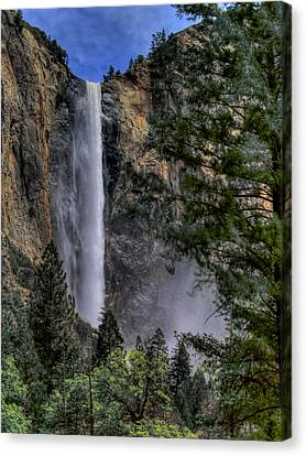 Yosemite Valley Canvas Print - Bridalveil Falls by Bill Gallagher