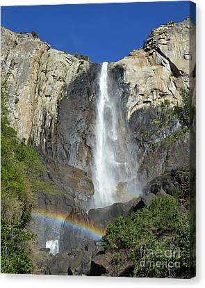 Bridalveil Falls With Rainbow Canvas Print