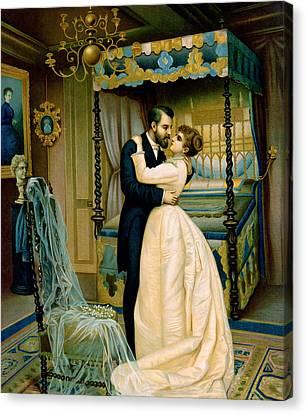 Bride And Bridegroom Canvas Print