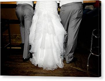 Canvas Print featuring the photograph Bride At The Bar by Courtney Webster