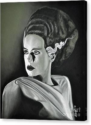 Bride Of Frankenstein Canvas Print by Joe Dragt