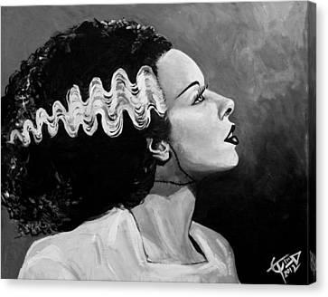 Horror Canvas Print - Bride by Tom Carlton