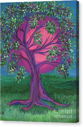 Maid Of Honor Canvas Print - Bridesmaid Tree by First Star Art