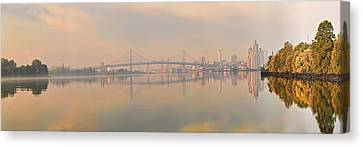 Bridge Across A River, Benjamin Canvas Print by Panoramic Images