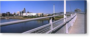 Bridge Across A River, Bob Kerrey Canvas Print by Panoramic Images
