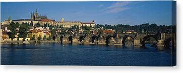 Bridge Across A River, Charles Bridge Canvas Print by Panoramic Images