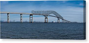 Bridge Across A River, Francis Scott Canvas Print by Panoramic Images