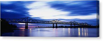 Bridge Across A River, Mississippi Canvas Print by Panoramic Images