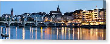 Bridge Across A River With A Cathedral Canvas Print by Panoramic Images
