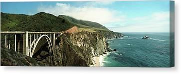 Bridge Across Hills At The Coast, Bixby Canvas Print