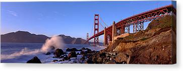 Bridge Across The Bay, San Francisco Canvas Print by Panoramic Images