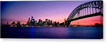 Bridge Across The Sea, Sydney Opera Canvas Print