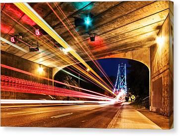 Bridge And Tunnel Canvas Print by Alexis Birkill