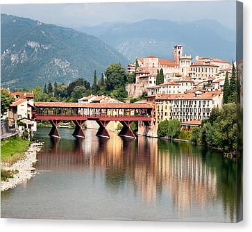Bridge At Bassano Del Grappa Canvas Print by William Beuther