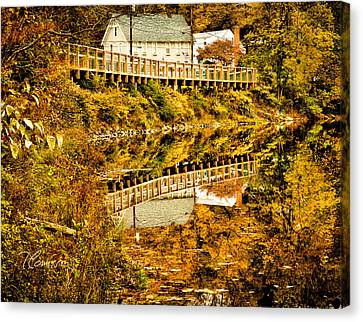 Canvas Print featuring the photograph Bridge At C'ville by Tom Cameron