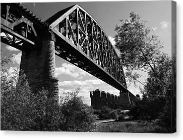 Southern Indiana Canvas Print - Bridge At Falls Of The Ohio by Chris Fender