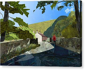 Bridge At Froggatt Canvas Print by Kenneth North