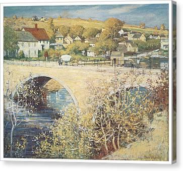 Bridge At Ispwich Canvas Print