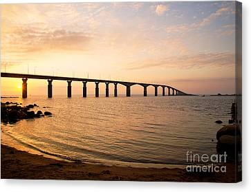 Bridge At Sunrise Canvas Print