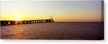 Built Canvas Print - Bridge At Sunrise, Sunshine Skyway by Panoramic Images