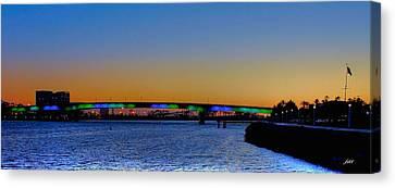 Bridge At Twilight Canvas Print