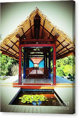 Bridge At Ubud Canvas Print