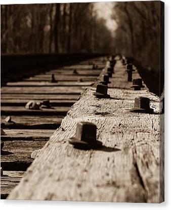 Bridge Bolts Photo Canvas Print by Rick McKee