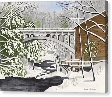 Bridge By The Mill - Mill Creek Park Canvas Print