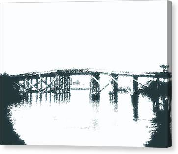 Bridge City Bridge Canvas Print by Max Mullins