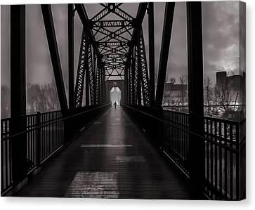 Bridge Crossing Canvas Print by Bob Orsillo