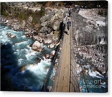 Bridge Crossing Canvas Print by Tim Hester
