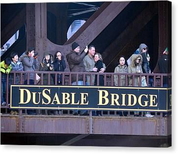Bridge Cuddling  Canvas Print