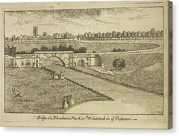 Bridge In Blenheim Palace Grounds Canvas Print by British Library