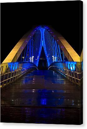 Bridge In Blue Canvas Print by Brendan Quinn