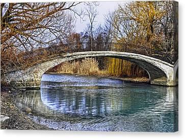 Bridge In The December Sun Canvas Print