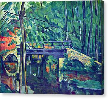 Bridge In The Forest By Cezanne Canvas Print by John Peter