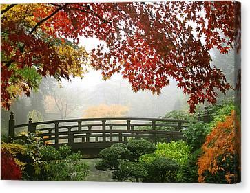 Bridge Into Autumn Canvas Print