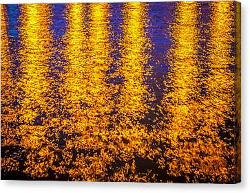 Bridge Of Lions Reflections St Augustine Florida Painted    Canvas Print by Rich Franco