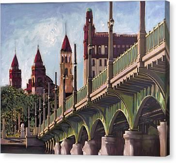 Florida Bridge Canvas Print - Bridge Of Lions St. Augustine by Francoise Lynch