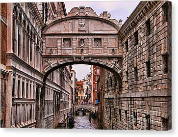 Bridge Of Sighs In Venice Canvas Print