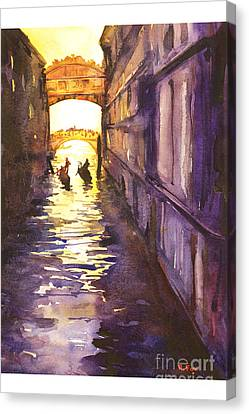 Bridge Of Sighs Canvas Print by Ryan Fox