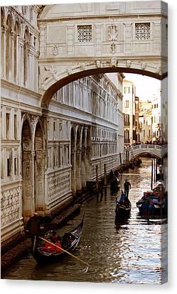 Bridge Of Sighs Venice Canvas Print by Cedric Darrigrand