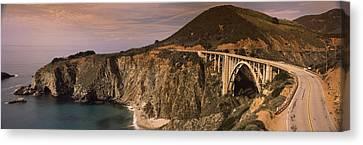 Bridge On A Hill, Bixby Bridge, Big Canvas Print