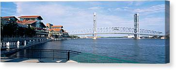 Bridge Over A River, Main Street, St Canvas Print by Panoramic Images