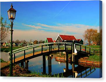 Bridge Over Calm Waters Canvas Print by Jonah  Anderson