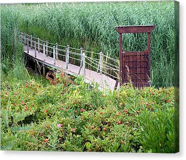 Canvas Print featuring the photograph Bridge Over Eel River by Janice Drew