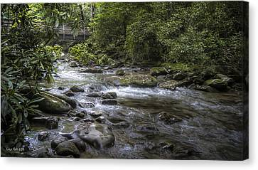 Bridge Over Running Water Canvas Print