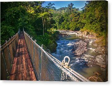 Bridge Over The Pacuare Canvas Print