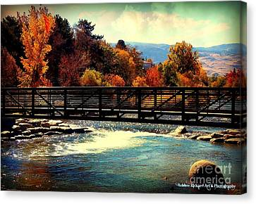Bridge Over The Truckee River Canvas Print