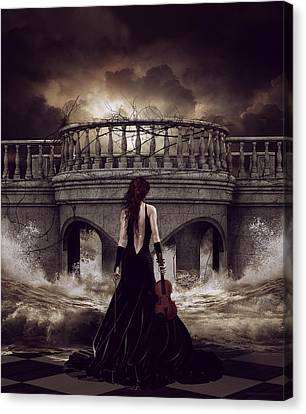Bridge Over Troubled Waters Canvas Print by Shanina Conway